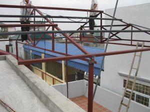 thi công lắp mái tôn nhà xưởng