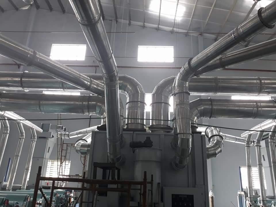 ống hút bụi hút nhiệt Bình Dương nhà xưởng