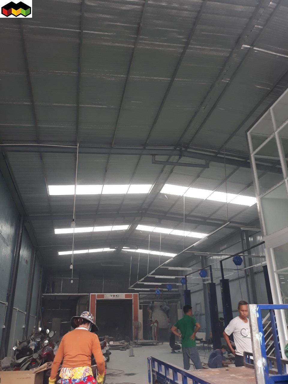 làm mái tôn nhà xưởng nhà kho 0368115251 chống dột mái tôn bảo hành 3 năm