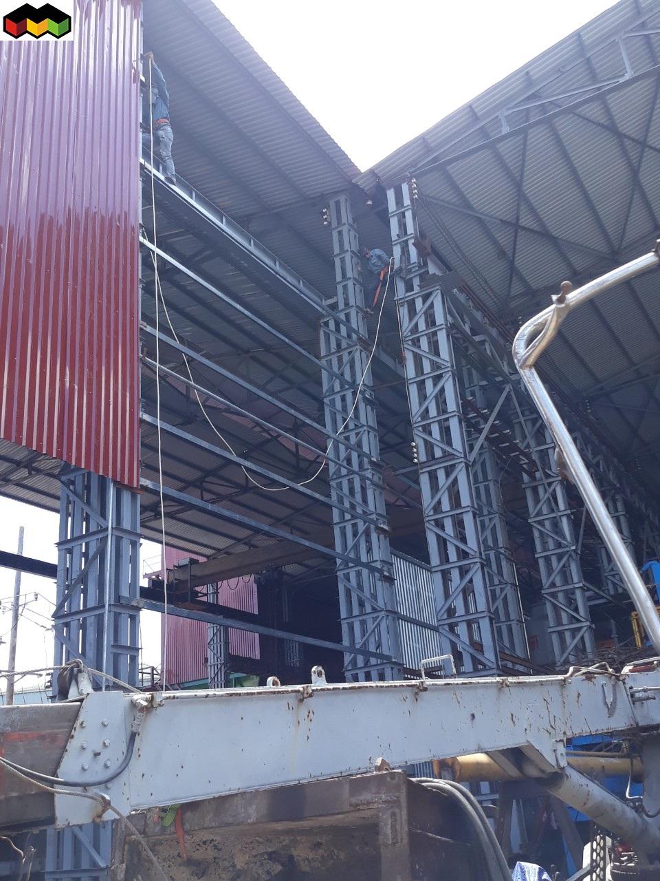 làm mái tôn nhà xưởng nhà kho nhà tiền chế 0368115251