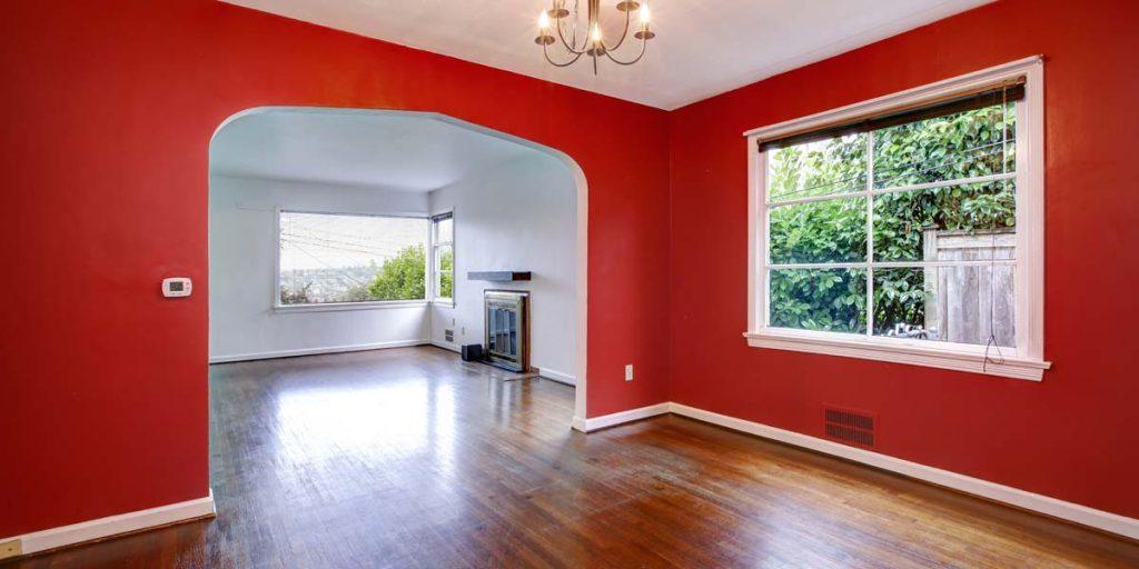 gam màu đỏ trắng tuy nổi bật nhưng cũng mang lại nét phá cách lẫn sự sang trọng độc đáo cho ngôi nhà bạn