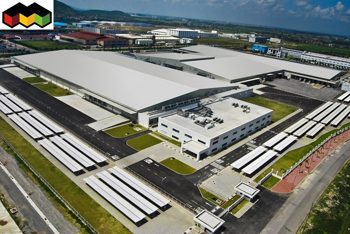 mẫu mái tôn nhà xưởng công nghiệp Canon - Mái Nhà Đẹp - 0368115251