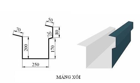 máng xối tôn giá rẻ - Mái Nhà Đẹp - 0368115251