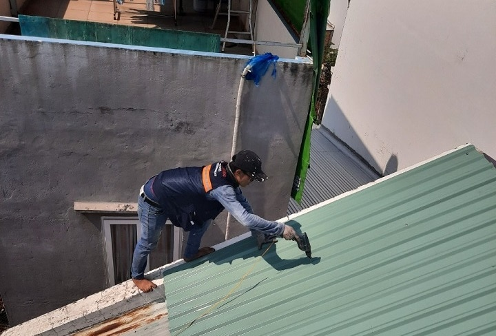 lợp mái tôn tại quận Gò Vấp giá rẻ - Mái Nhà Đẹp - 0368115251