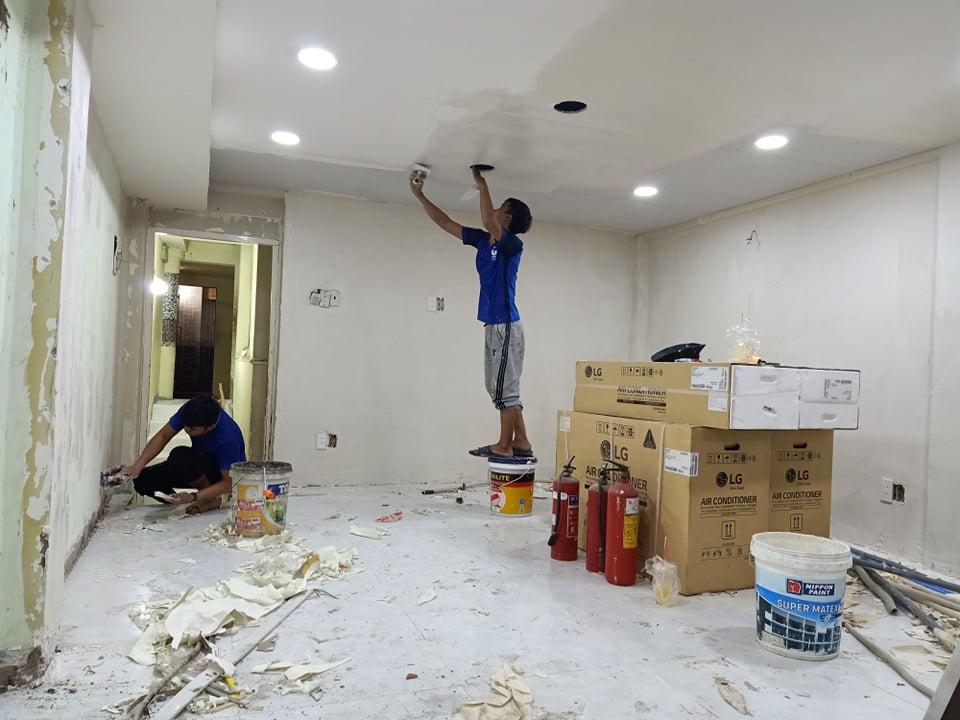 sơn lại nhà cũ tại tphcm