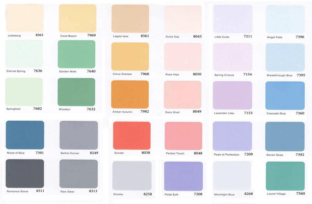 bảng màu sơn ngoại thất TOA nanoshield - giá nhân công sơn nước