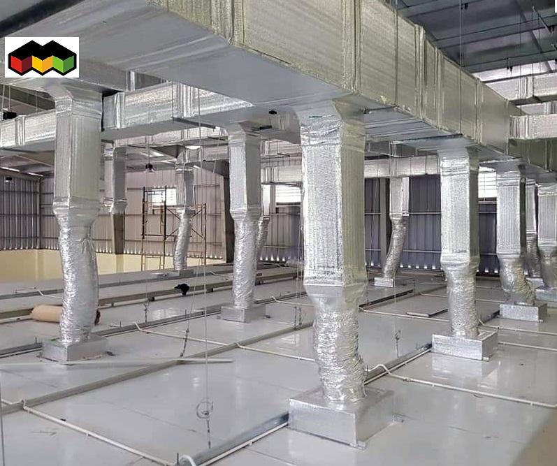 hệ thống ống gió nhà xưởng giá rẻ - Mái Nhà Đẹp - 0368115251