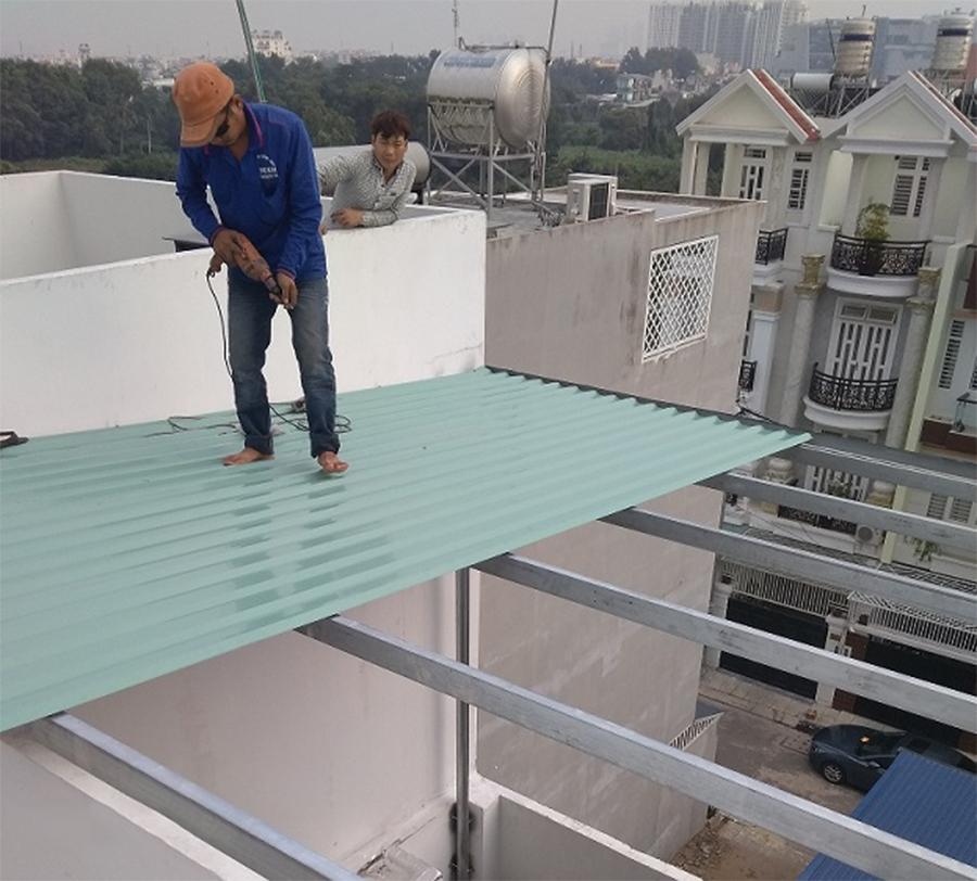 lợp mái tôn ở tại quận Gò Vấp - 0368115251 - Mái Nhà Đẹp