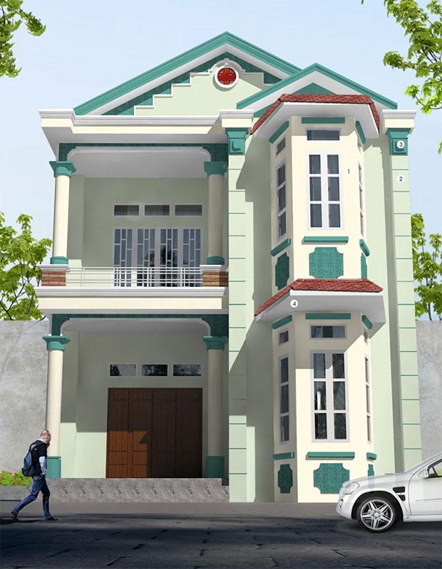 mẫu sơn nhà mặt tiền đẹp - Mái Nhà Đẹp